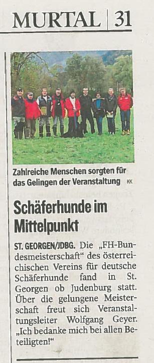 Bereicht Kleine Zeitung 09.10.2015