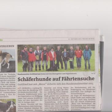 Hier noch ein Zeitungsbericht von der SVÖ-FH Bundesmeisterschaft 2015 in St. Georgen ob Judenburg