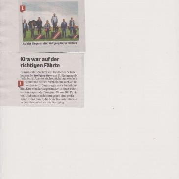 Erfolg Kira von der Siegerstrasse Zeitungsartikel Kleine Zeitung 002