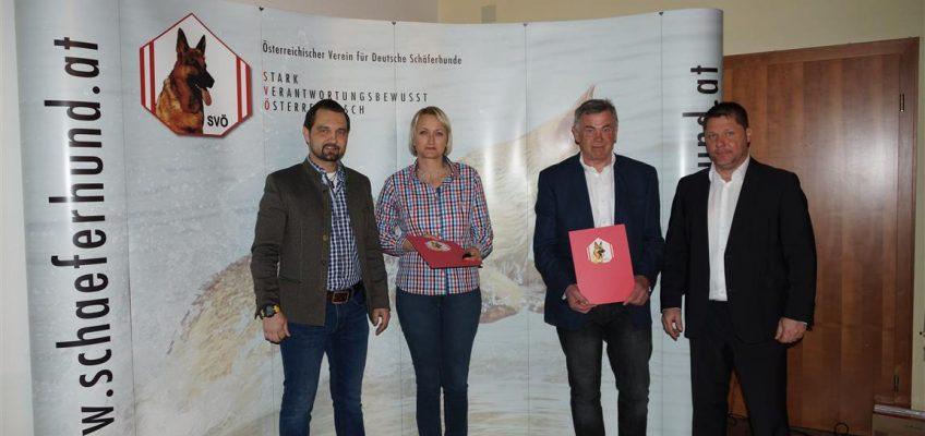 Ehrenzeichen für 30 Jährige SVÖ Mitgliedschaft-März 2019