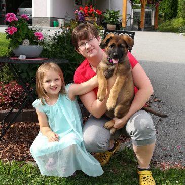 2 Welpe ist ausgezogen,wir wünschen Kerstin Seidl mit mit ihrer Oana von der Siegerstrasse viel viel Erfolg und Gesundheit.Ich bin stolz so einen Hundeführer in meiner Zuchtstätte von der Siegerstrasse zuhaben. – von der Siegerstrasse